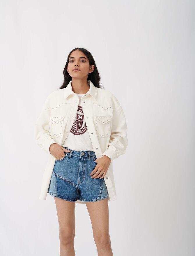 Giacca in velluto a costine con borchie - Tops e Camicie - MAJE