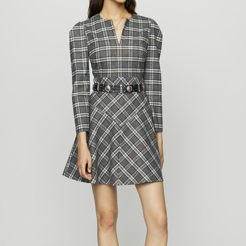 Vestito in misto lana a quadri : Vestiti colore CARREAUX