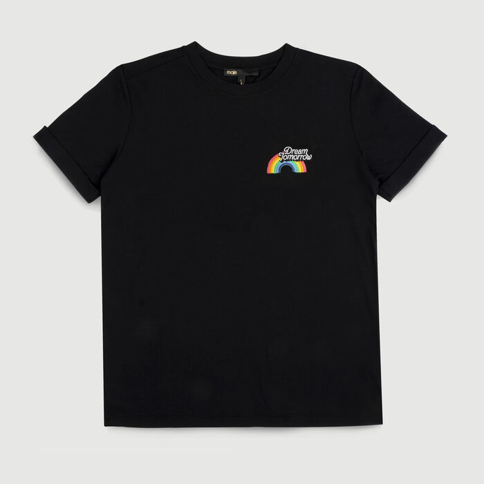 Tee-shirt in cotone con stampe : T-Shirts colore Nero