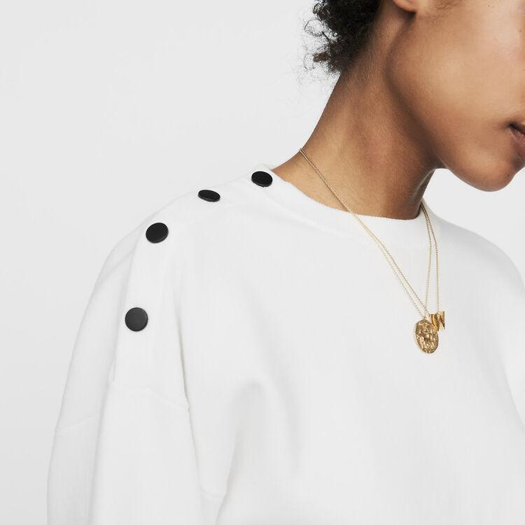 Maglia con bottoni sulle spalle : Maglieria colore ECRU