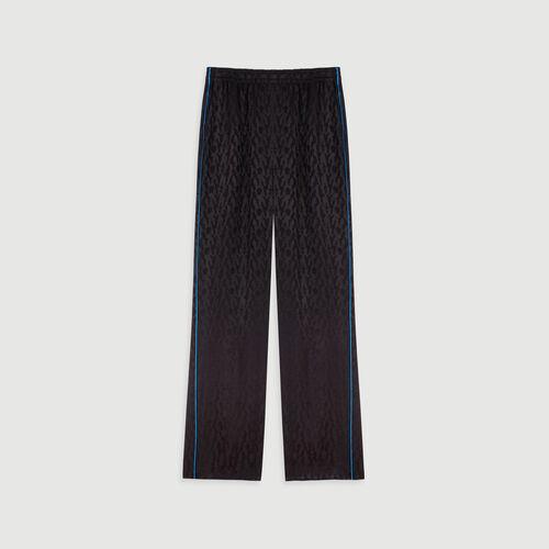 Pantaloni fluidi in jacquard satinato : Collezione Inverno colore Nero