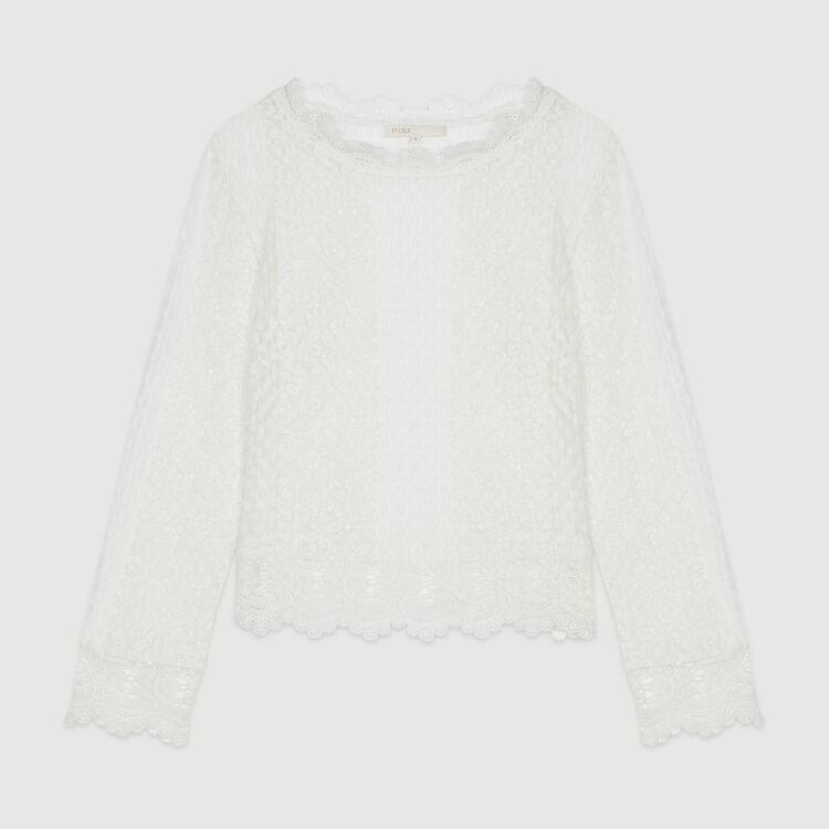 Top in pizzo : Tops e Camicie colore Bianco