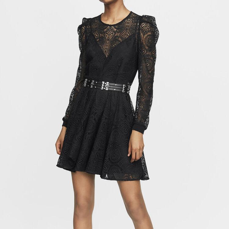 Vestito pattinatrice in pizzo : Prêt-à-porter colore Nero