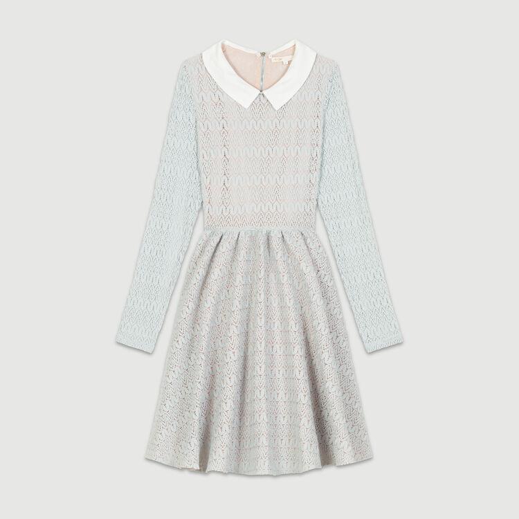 Basket knitted dress : Vestiti colore Ceruleo