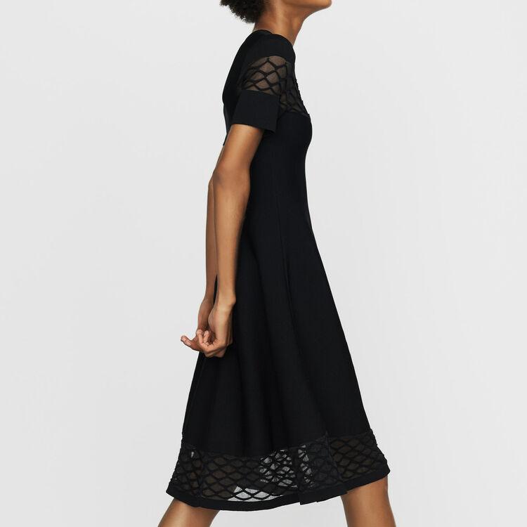 Vestito in maglia Stretch : Vestiti colore Nero