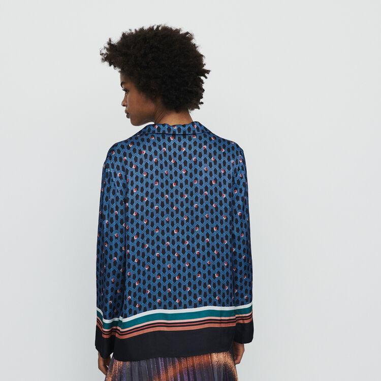 Camicia stile pigiama con stampa : Camicie colore IMPRIME