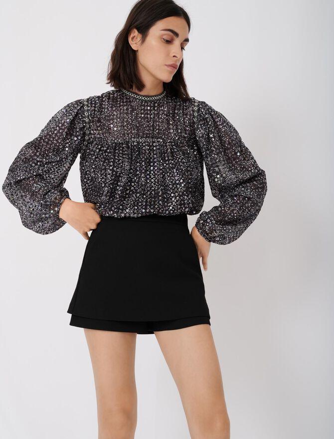 Short-jupe en crêpe - Gonne e shorts - MAJE