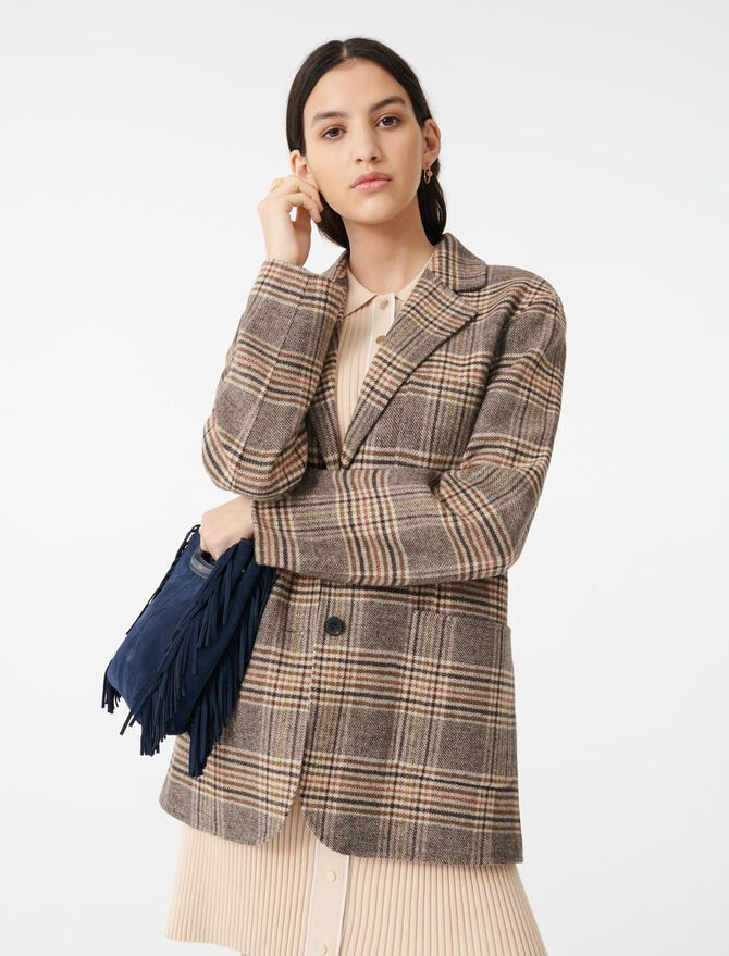 Cappotto stile giacca a quadri - Cappotti e Giubbotti - MAJE