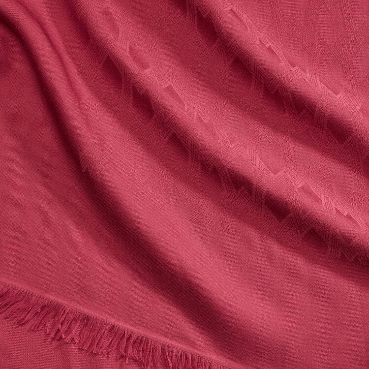 Scialle in misto cotone : Scialli & Poncho colore Lampone