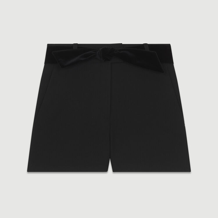 Pantaloncini eleganti con cintura : Gonne e shorts colore Nero