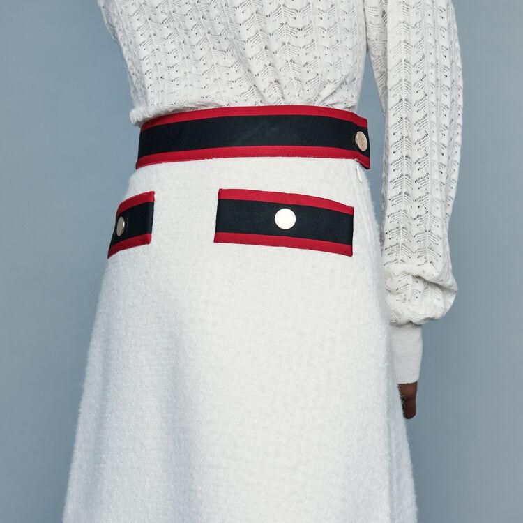 Gonna corta in tweed : Gonne e shorts colore Ecru