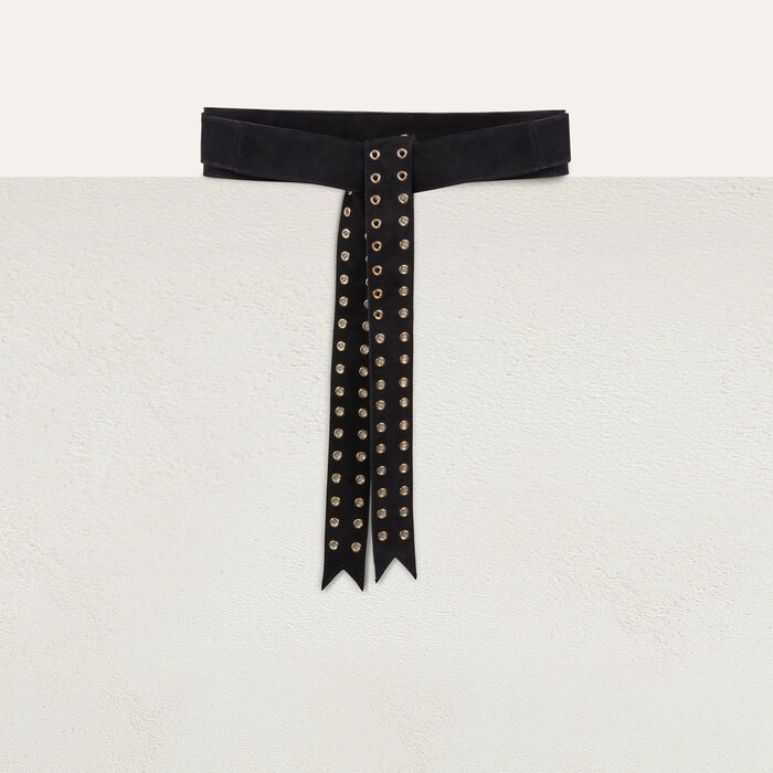 Belt with eyeslets : Cinture colore Nero