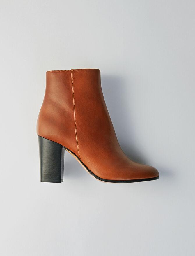 Heeled smooth leather boots - Stivali e Stivaletti - MAJE