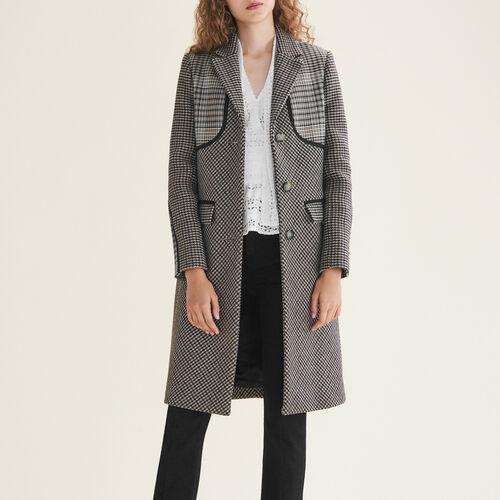 Cappotto a quadri : Cappotti colore Jacquard
