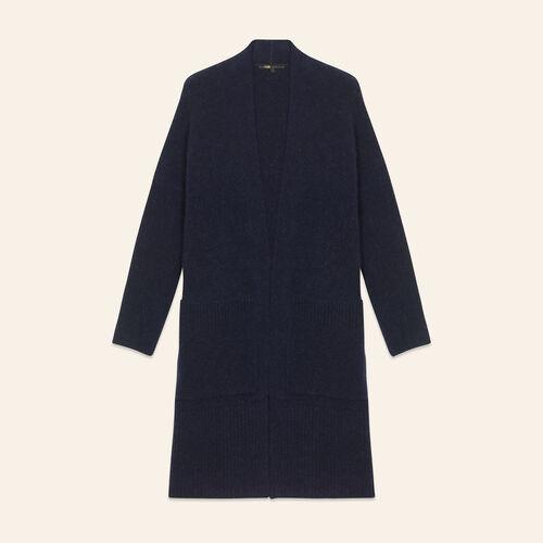 Cardigan lungo oversize : Maglieria colore Blu Notte