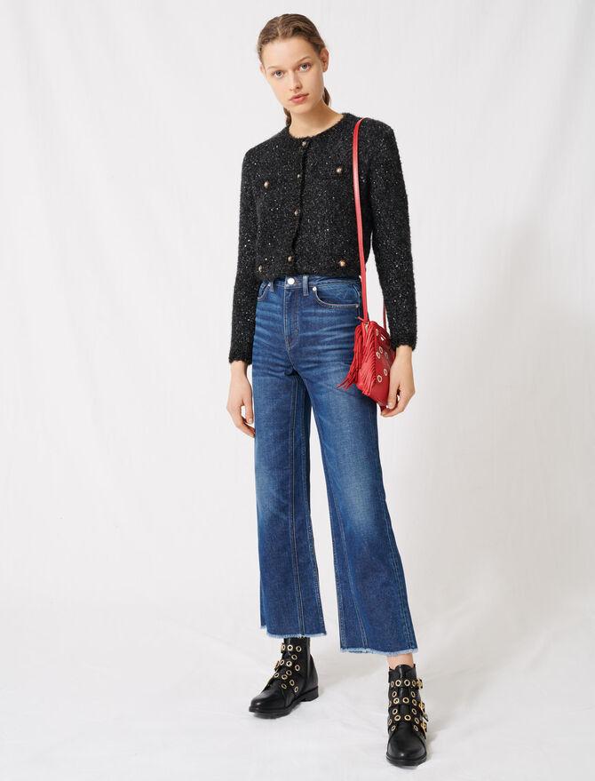 Jeans larghi a vita alta -  - MAJE