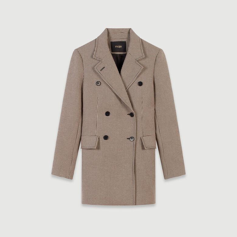 newest 7b4c1 6cc86 Cappotto stile giacca a quadri