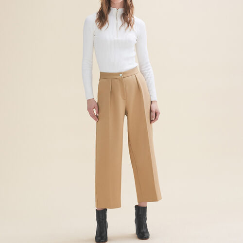 Pantaloni da tailleur larghi : Pantaloni colore Cammello