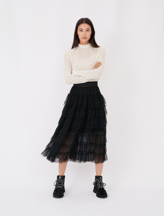 Gonna midi in tulle - Gonne e shorts - MAJE