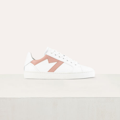 Sneakers with a M insert : Scarpe colore Rosa Tenue