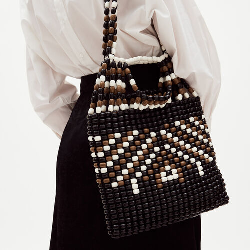 Bag with wood pearls : Borse colore Multicolore