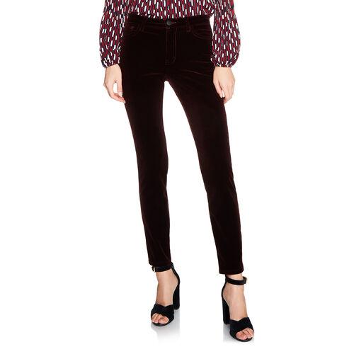 Jeans 5 tasche in velluto : Pantaloni e jeans colore BORDEAUX