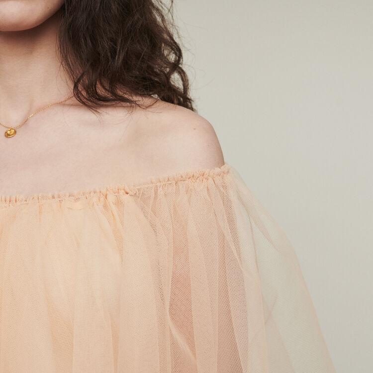 Vestito in tulle con spalle nude : Vestiti colore Mandarino