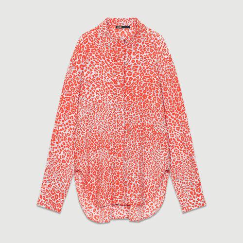Camicetta con stampa leopardata : Camicie colore IMPRIME