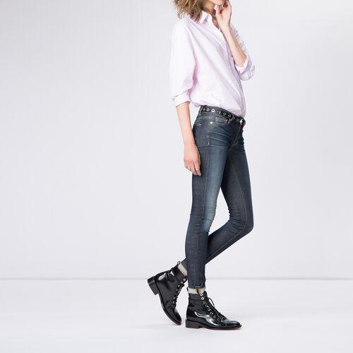 Jeans slim grezzo in cotone stretch : Pantaloni & jeans colore Denim