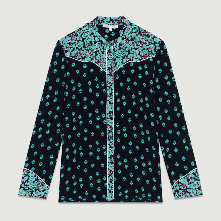 Camicia fluida stampata : Camicie colore IMPRIME