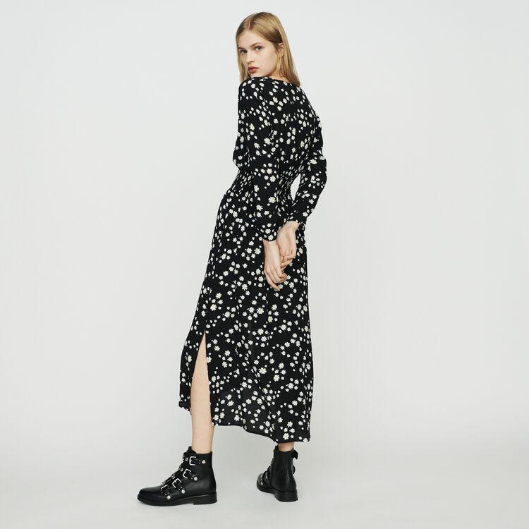 Vestito lungo con margherite stampate : Vestiti colore IMPRIME