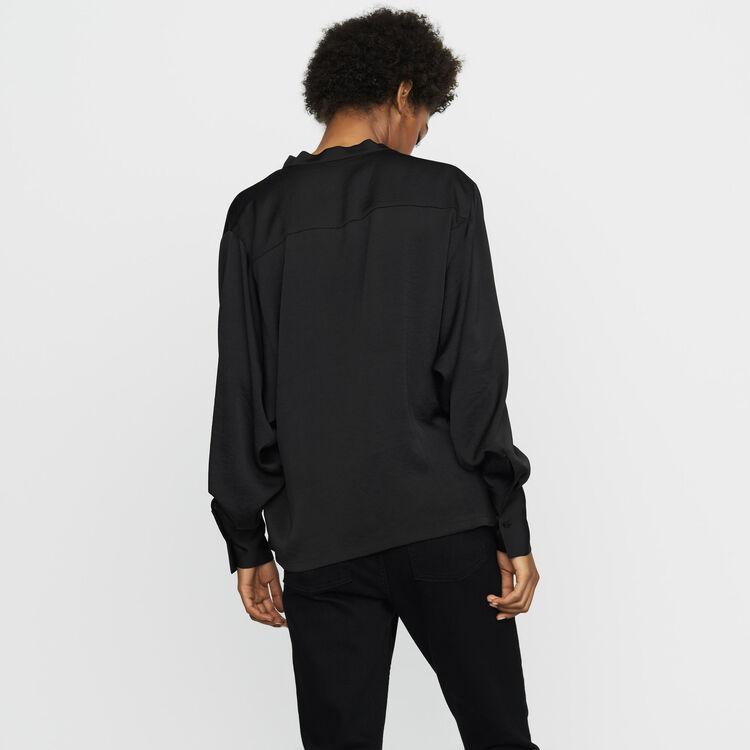 Blusa in crêpe : Tops colore Nero