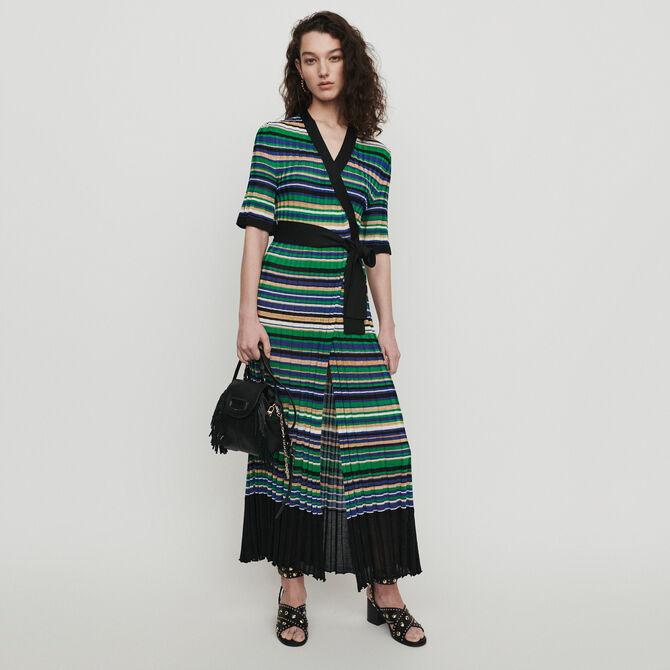 online store 80aab 89316 Vestito lungo in maglia rigata