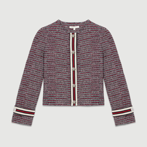 Giacca in  tweed di cotone : Giacche colore Jacquard