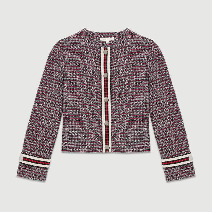 Giacca in  tweed di cotone : Giacche colore Jacquard
