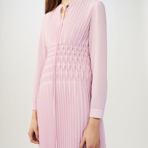 Vestito lungo plissettato : Vestiti colore LILA