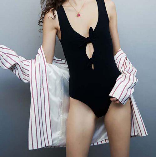 Body impermeabile con fiocchi : Costumi da bagno colore Bianco