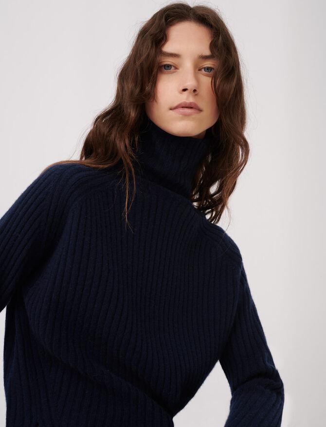 Maglione in cachemire a collo alto - Tutta la collezione - MAJE