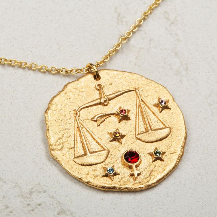 Collana segno zodiacale Bilancia : Gioelli colore OR