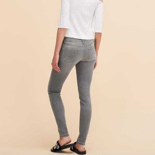 Jeans skinny : Ohne Rabatt colore Grigio