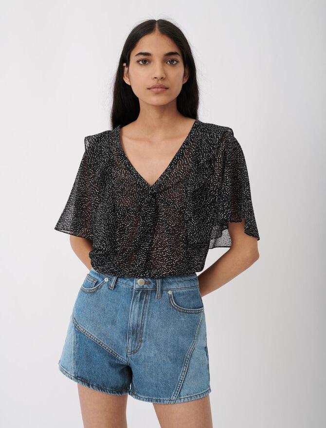 Short di jeans con applicazioni - Gonne e shorts - MAJE