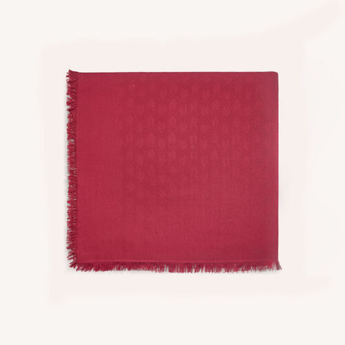 Scialle in misto cotone : Accessori colore Lampone