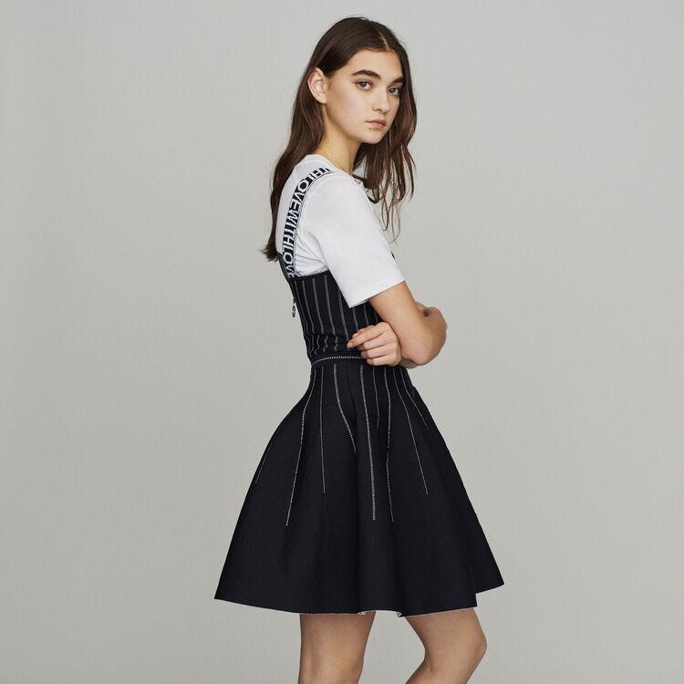 Vestito corto reversibile : Vestiti colore Nero