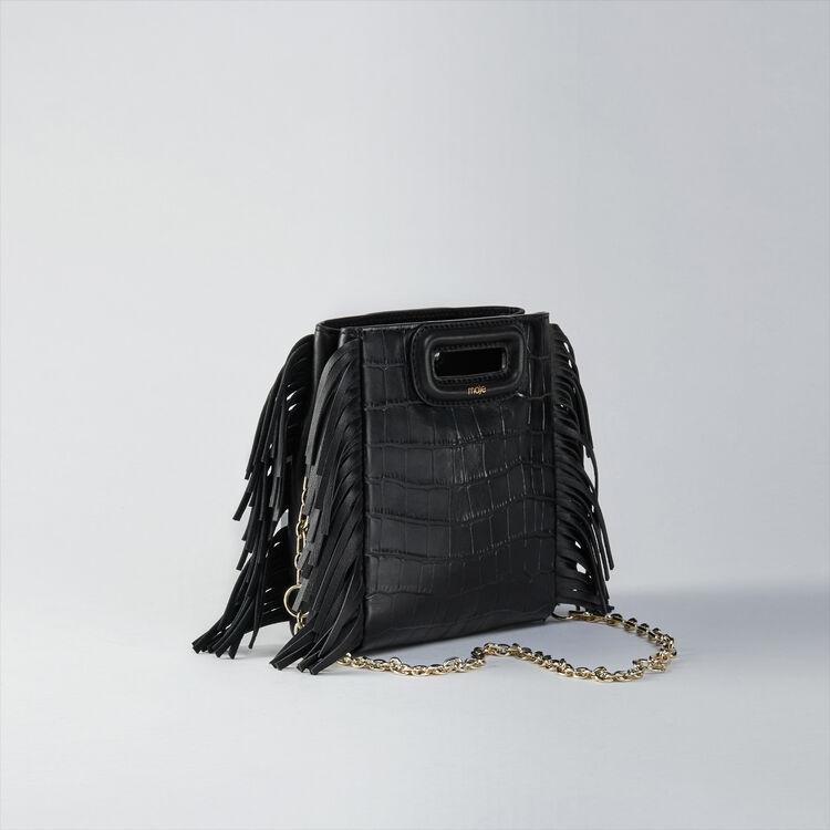 Borsa M Mini in pelle con catena : M Mini colore Nero