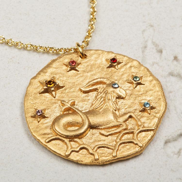 Collana segno zodiacale Capricorno : Gioelli colore OR