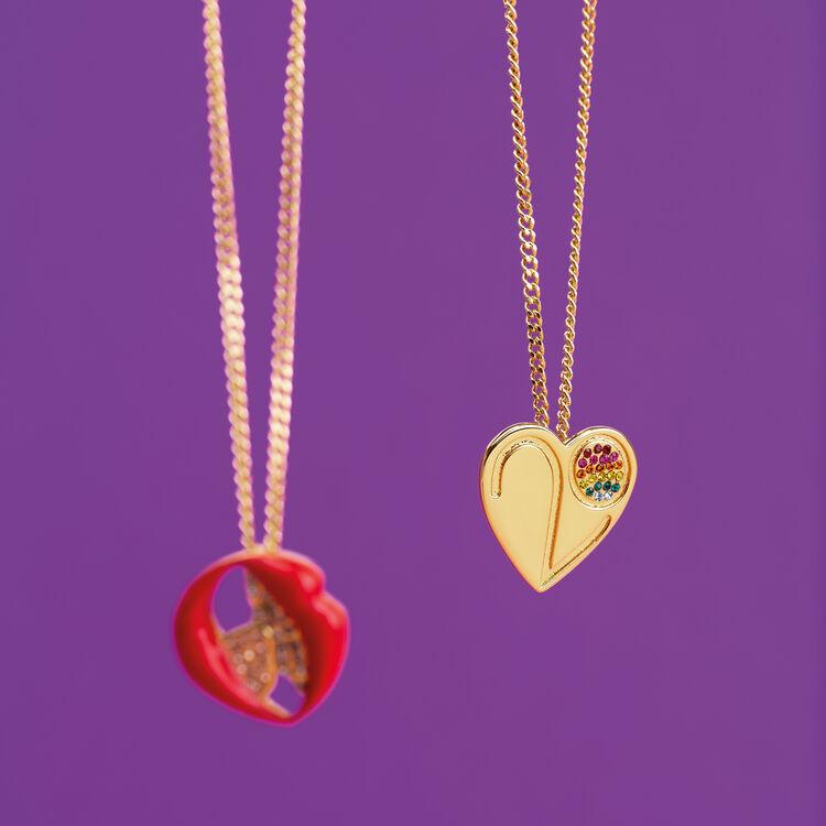Collana con medaglione cuore : Gadgets colore OR