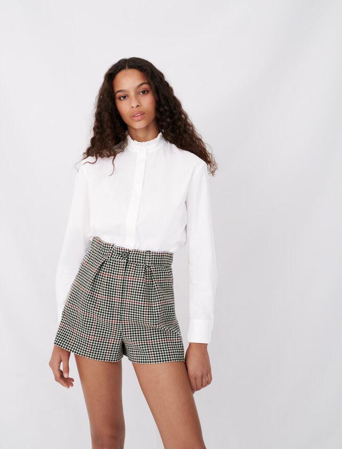 Camicia in popeline colletto con strass - null - MAJE