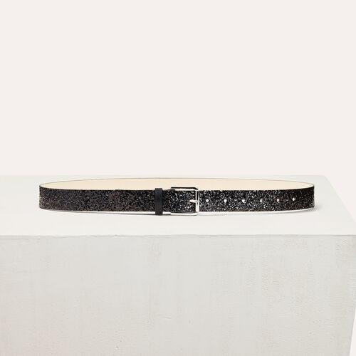 Cintura a paillette : Accessori colore Nero