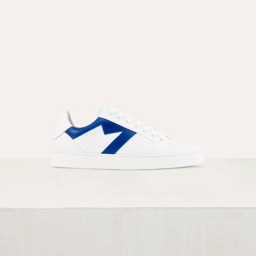 Scarpe da ginnastica in pelle : Sneakers colore Blu