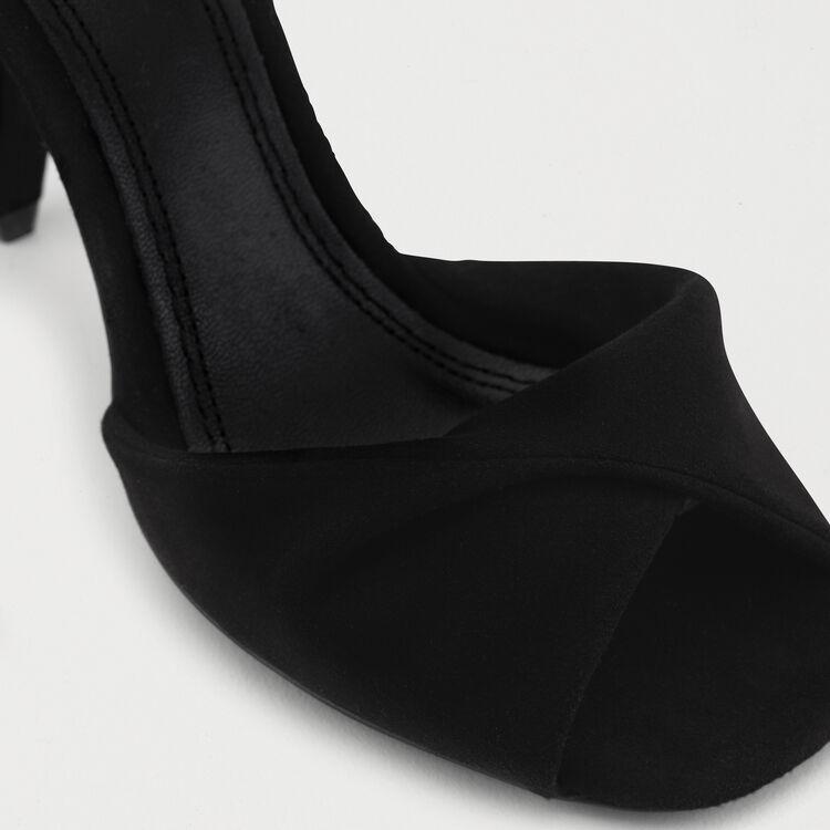 Sandali alti in pelle dorata : Scarpe colore Nero